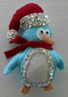 Felt and Sequin Penguin Ornament
