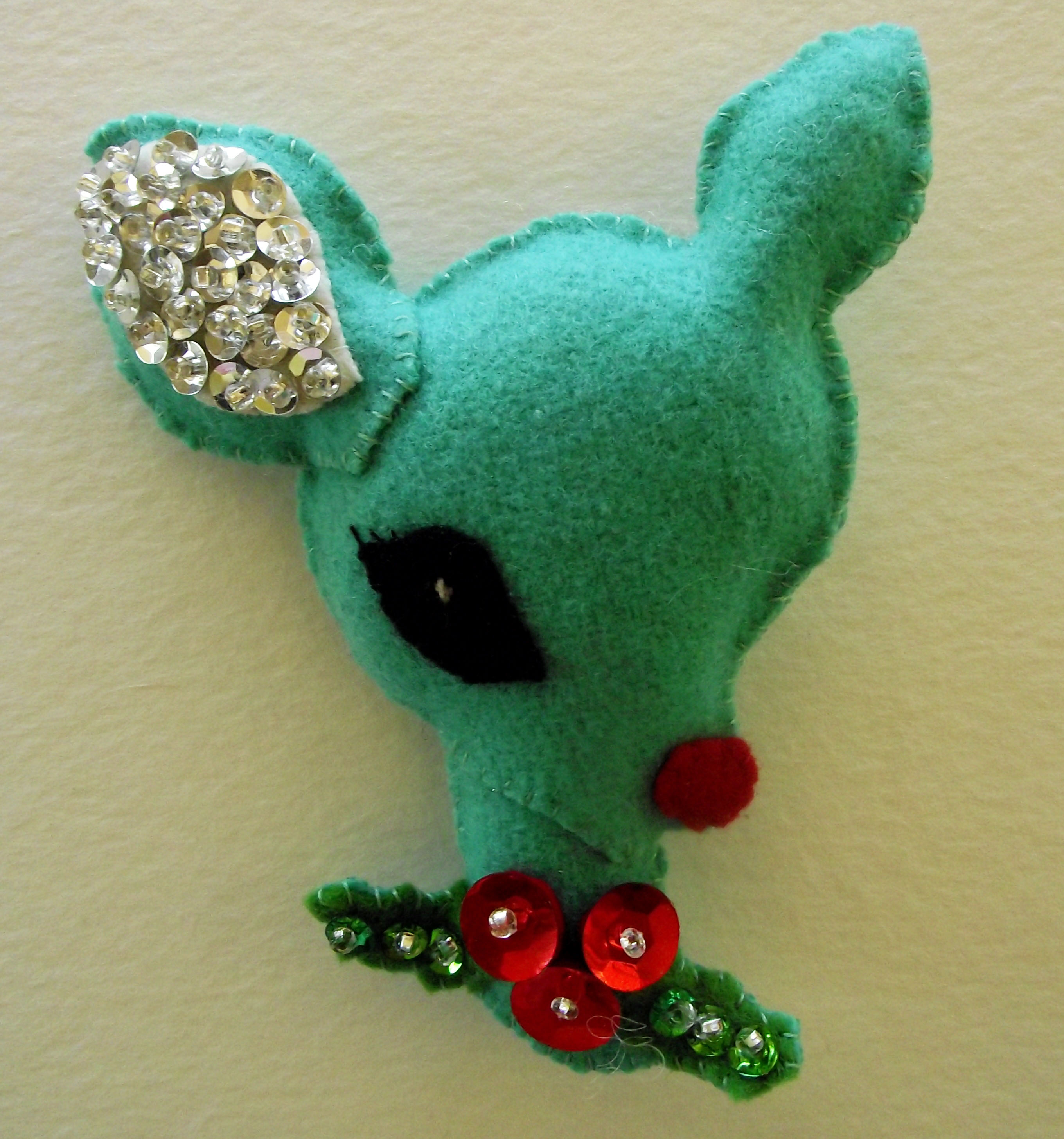 Reindeer christmas ornaments - Sequin Christmas Ornaments Reindeer Ornament 1