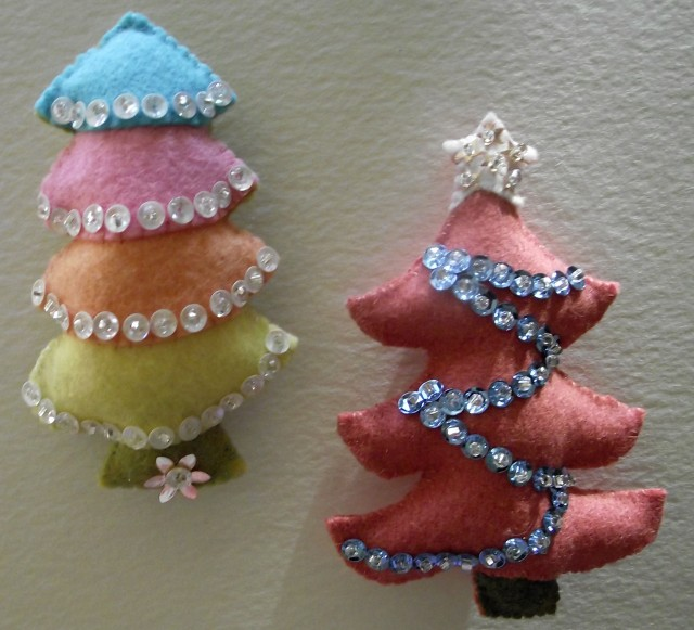Felt and Sequin Christmas Trees