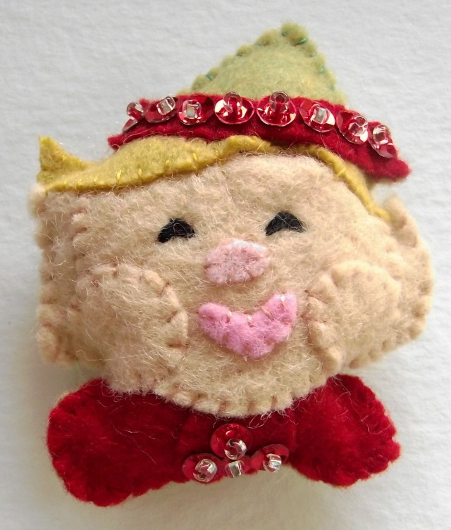 Felt and Sequin Elf Ornament