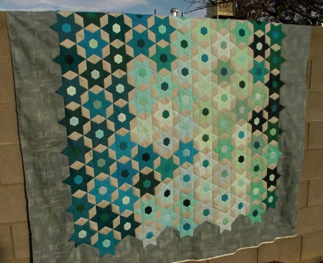 Jeweled Stars EPP Quilt